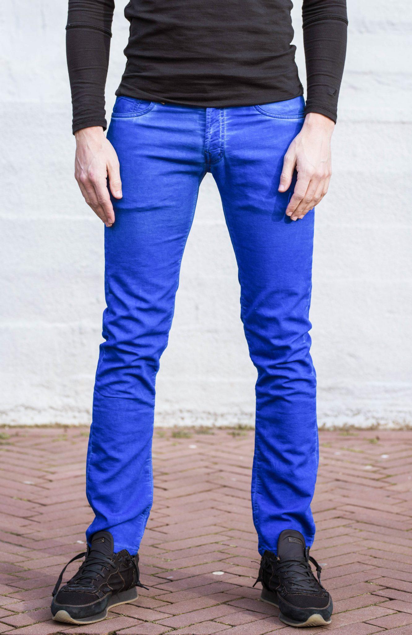 fed579bcb46 Jogger jeans kobaltblauw regular fit-654