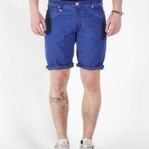 Jogging jeans bermuda heren, blauw-681