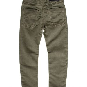 Jogging jeans kids, slim fit, legergroen-774