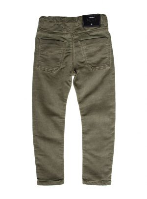 Jogging jeans kids, baggy fit, legergroen-774