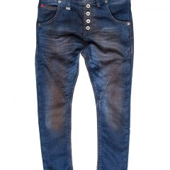 Jogging jeans baggy fit, blauw dirty-125
