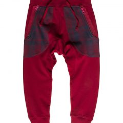 Joggingbroek kids, slim fit, baggy rood-488