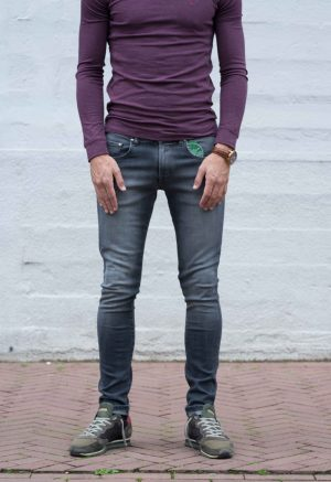 Jeans skinny grijs