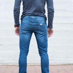 Jogger jeans unisex, slim fit, blauw-023
