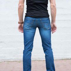 Jogger jeans heren spijker, regular fit-711