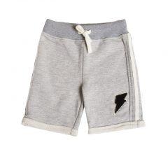 Joggingstof korte broek kinderen, grijs-825