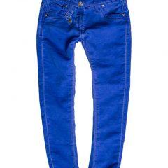 Jogging jeans girls, slim fit, kobaltblauw-654
