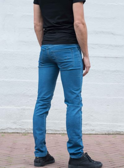 Jogging jeans heren, regular fit, petrolblue-687