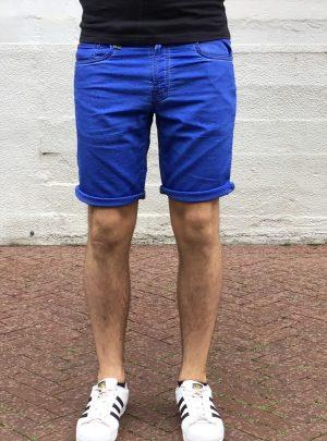Jogg jeans korte broek kobaltblauw