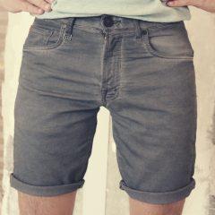 Jogging jeans bermuda, slimfit grijs-896