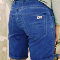 Jogging jeans bermuda, kobalt-651