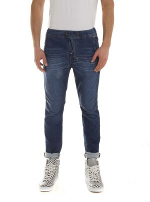 Jogg jeans unisex, blauw, slim fit-711