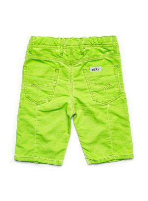 Jogg jeans korte broek fluor geel, fluor-716