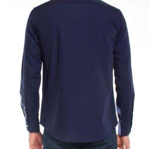 Overhemd donkerblauw heren-687