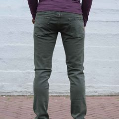 Jeans stretch olijfgroen, slim fit-778