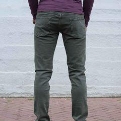 Jeans stretch olijfgroen, slim fit-778