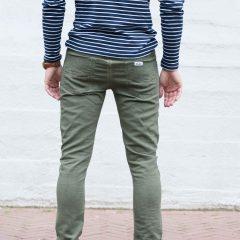 Jogg jeans slim fit, olijfgroen-774
