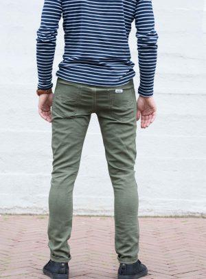 Jogg jeans slim fit, olijfgroen-774 (Alleen maat S)