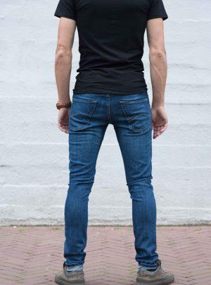 Super slim fit/skinny elastische jeans, dblauw-703