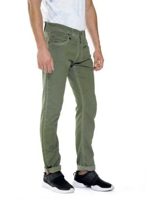 Mosgroene jogg jeans heren, regular fit-798