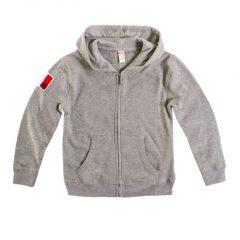 Vest grijs kids, fleece binnenkant