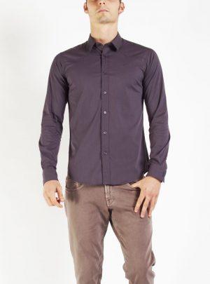 Shirt donkergrijs getailleerd-874