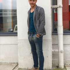 Colbert jogg jeans donkergrijs-854