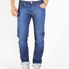 Jogg jeans heren, regular fit, blauw-001