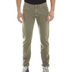 Stretch broek katoen beige, regular fit-765