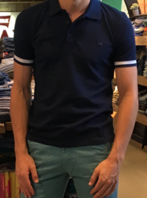 polo stretch donkerblauw