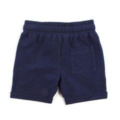 Joggingstof korte broek kinderen, donkerblauw-669