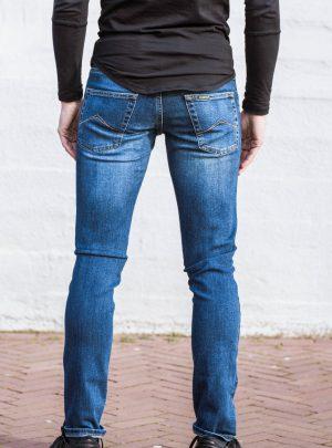 Jeans elastisch slim fit blauw basic-711