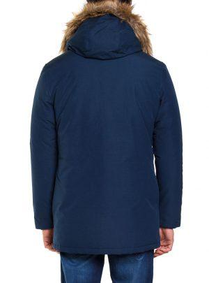 Winterjas Carrera donkerblauw achterkant