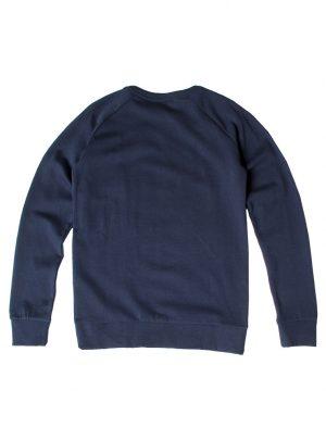 Trui katoen kids donkerblauw fleece binnenkant-686