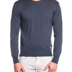 Sweater ronde hals heren grijs
