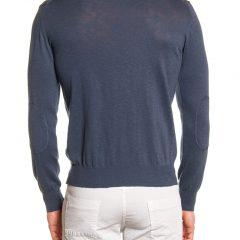 Sweater katoen heren ronde hals grijs-889
