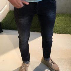 Stretch jeans zwart gewassen