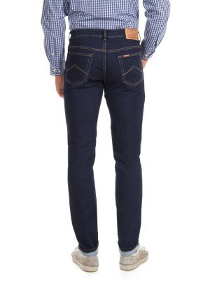 Jogg jeans heren regular fit, donkerblauw-101 (new arrival)