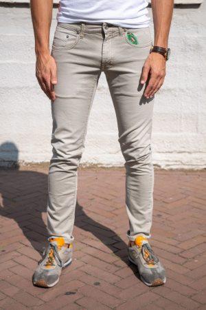 Jeans voorkant beige