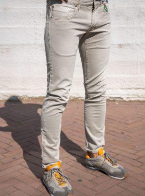 Jeans Stretch Beige, Slim Fit Pasvorm-173