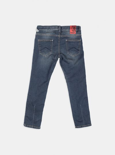 Jogg jeans kids, slim fit, blauw destroyed-77E (new arrival)