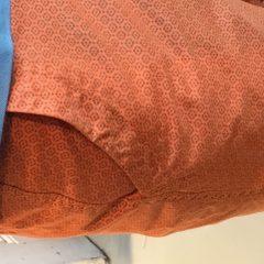 Chino korte broek katoen oranje motief- D02