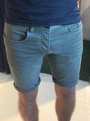 Jogg jeans korte broek olijfgroen