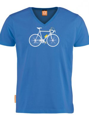 "Okimono t-shirt heren, blauw, ""Cycling Seventies"""