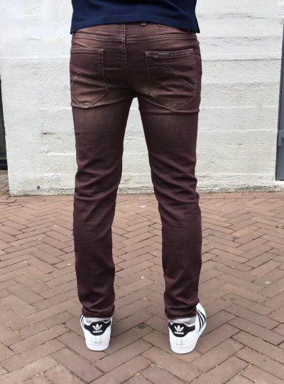 Jogg jeans heren bordeauxrood,(bestseller weer op voorraad!)