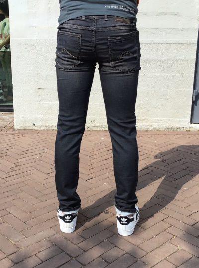 Jogg jeans heren donkergrijs, met paspoort ritsen in de zakken(new)