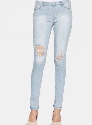 Jegging dames jeans met kapotte stukken-57J (new)