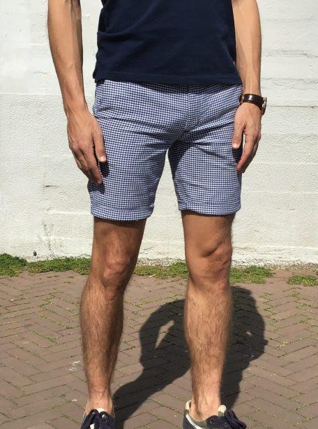 Korte Broek Heren Blauw.Chino Korte Broek Heren Blauw Ruit 91g Jogg Jeans Nl
