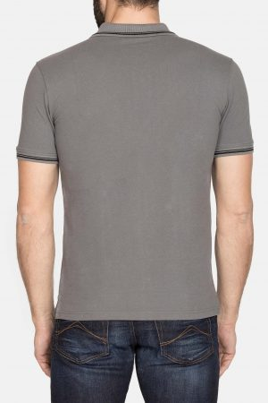 Polo grijs achterkant