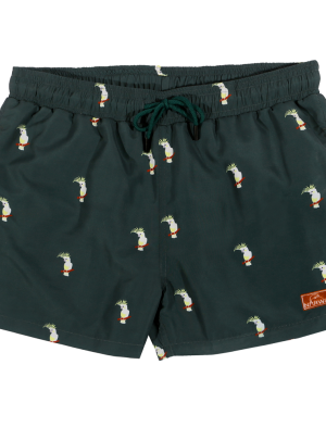 Narwal swimshort cockatoo
